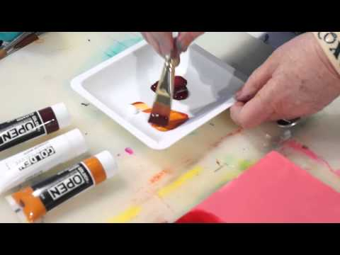 Blending & Glazing with Slow Drying Acrylics : GOLDEN A-Z Set
