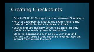 70-410 Objective 3.2 - Creating and Configuring VM Storage on Hyper-V 2012 R2 Part 2