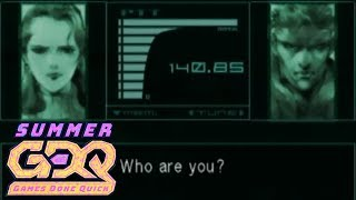 Metal Gear Solid: The Twin Snakes by plywood in 1:04:39 - SGDQ2018