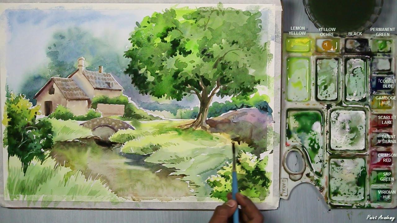 A House Landscape Step By Step - YouTube