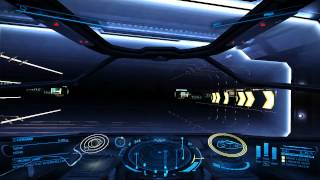 Elite Dangerous, Hyperdrive Jump (1080p 60fps) medium settings