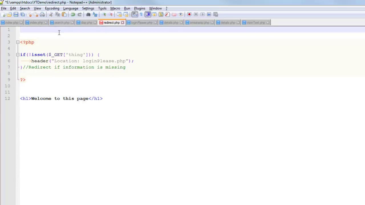 redirects in php with the header function - youtube  youtube
