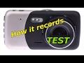 TEST - HD Car Video Recorder 1080p Dual Camera Dash Cam