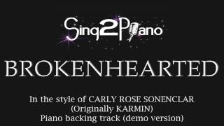 Brokenhearted Carly Rose Sonenclar Piano backing track X Factor