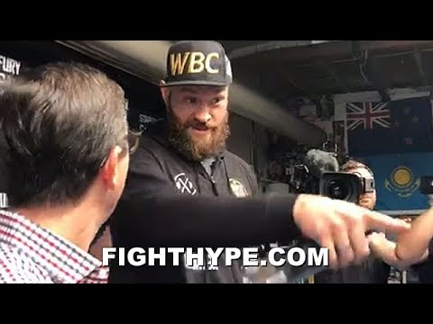 "(WOW!) TYSON FURY KICKS REPORTER OUT OF WORKOUT FOR BEING A HATER: ""GET HIM OUT OF HERE"""