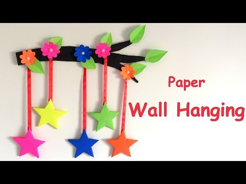 DIY - Wall Hanging from Paper /paper craft /card board craft /valentine day/ Home decoration idea