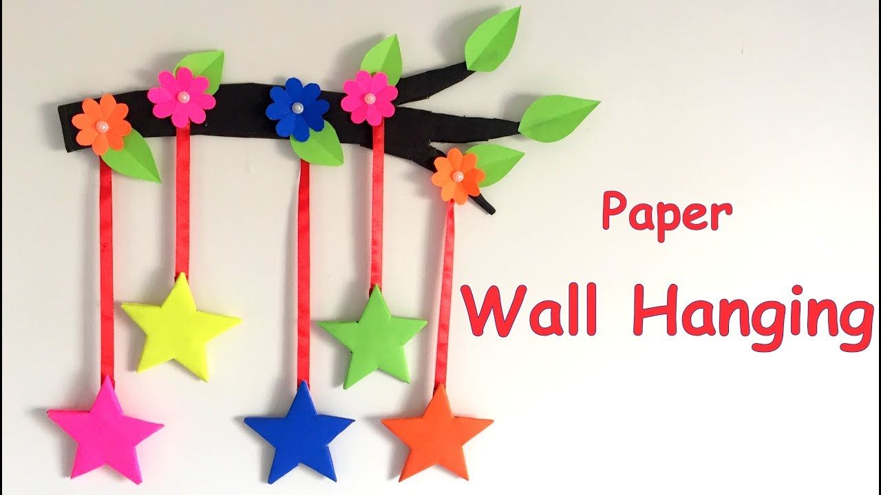Diy wall hanging from paper paper craft card board craft diy wall hanging from paper paper craft card board craft home decoration idea amipublicfo Images