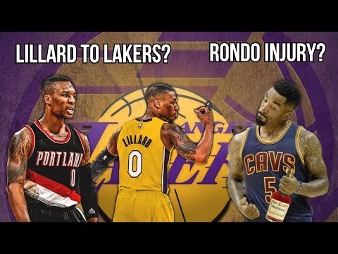Lakers News Update: Damian Lillard Lakers/Knicks Trade? Rondo Injury Update? JR Smith Instagram Ban? from YouTube · Duration:  5 minutes 35 seconds