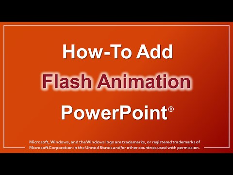 How to Add Flash Animation in PowerPoint - YouTube