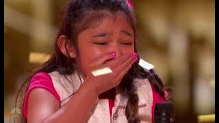 "Angelica Hale: Gets GOLDEN BUZZER After Burning Down AGT With ""GIRL ON FIRE"" 