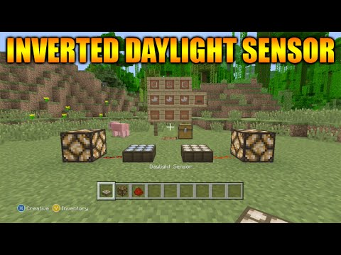 minecraft how to use daylight sensor