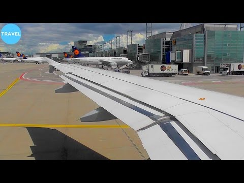 WINDY! Lufthansa A319 Stormy Departure from Frankfurt Am Main!