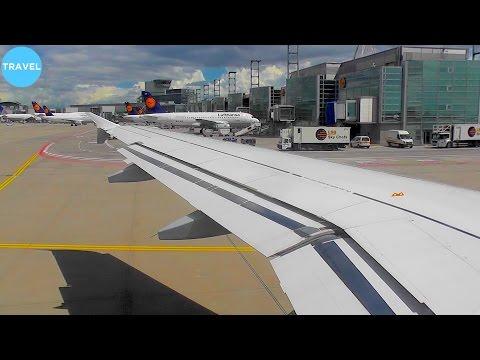 WINDY! Lufthansa A319 Stormy Departure from Frankfurt Am Main!