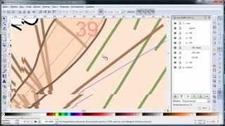 Обработка карты в Inkscape