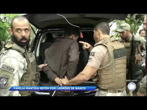 Família é feita refém em tentativa de assalto a banco no interior de SP