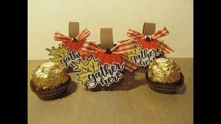 Tags Bags Boxes & Bows #1~ Thanksgiving Candy Favor Box