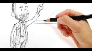 Learn how to draw a teacher   Drawing Teacher Tutorial