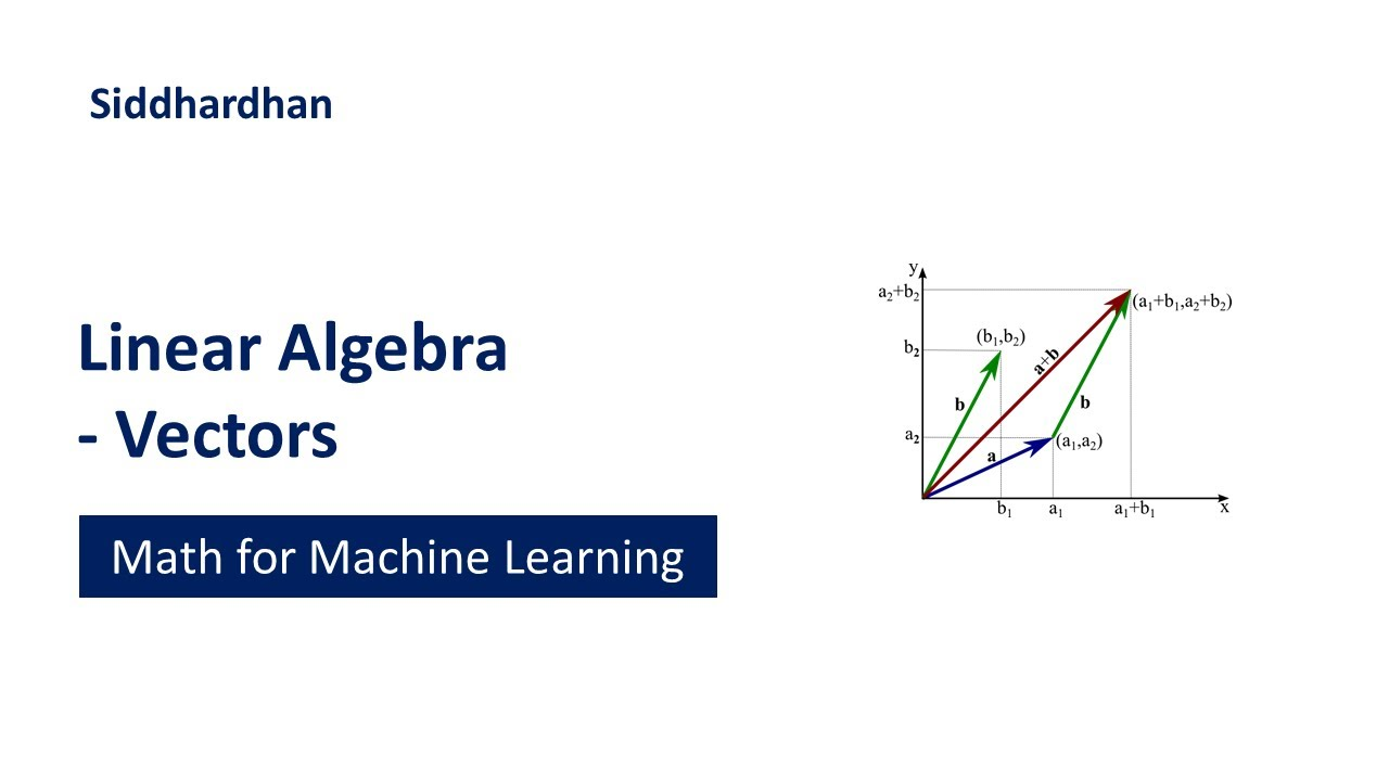 Linear Algebra - Vectors | Mathematics for Machine Learning