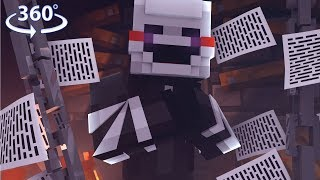 360° Five Nights At Freddys   PUPPET V S ON   Minecraft 360° Video