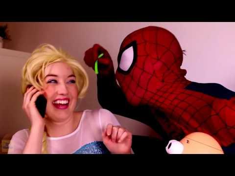 Эльза и анна человек паук мультфильм