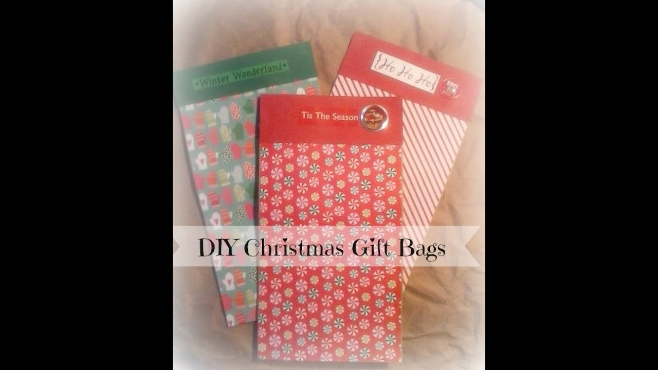How To Make Easy Christmas Gift Bags DIY