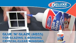 Glue 'N' Glaze - For Glazing & Bonding Crystal Clear Windows.
