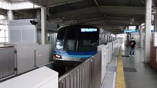横浜市営地下鉄3000V形3611F 普通あざみ野行き 新羽駅到着