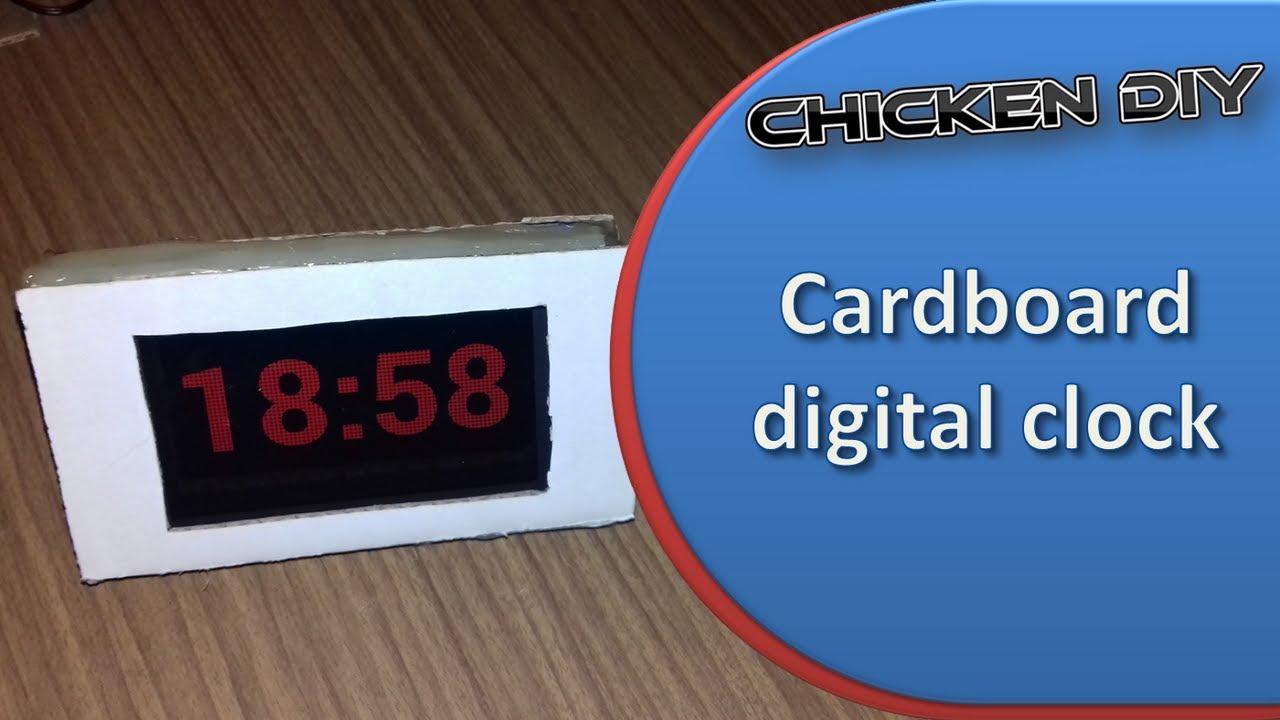 How to make Cardboard digital clock