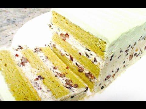 Green Tea Red Bean Cake Recipe