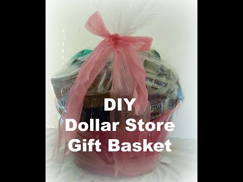 ow make a gift basket/ Dollar Store  gift  basket/ DIY Dollar Store Gift baskets