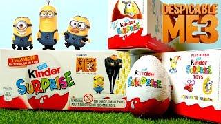 Kinder Surprise Despicable Me 3 - Minions 10 Surprise Eggs 2017 UK edition