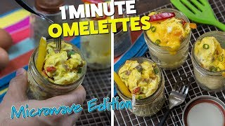 1 Minute LOW CARB Mason Jar Omelettes