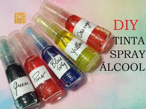 Tinta spray álcool (Indiana), como fazer? - DIY - (Ink alcohol spray) - VIDEO
