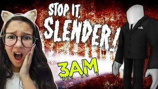 Roblox - NÃO JOGUE SLENDER AS 3AM (Stop it, Slender! 2) | Luluca Games