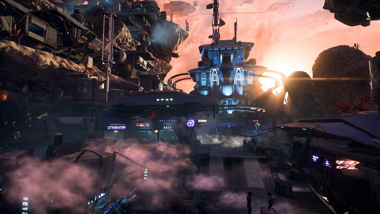 Mass Effect Andromeda Kadara Port Live Wallpaper 4k Uhd Youtube