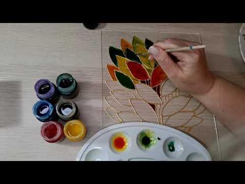 Краски по стеклу своими руками