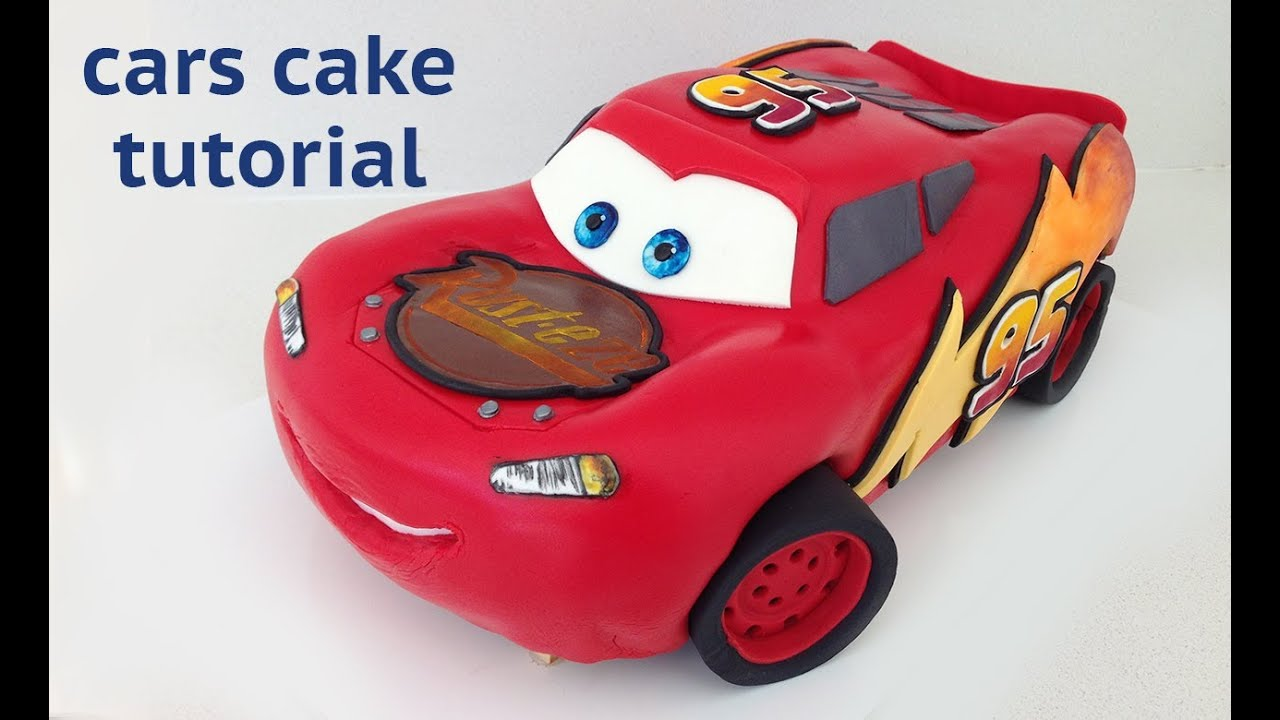 Cars Cake Tutorial HOW TO COOK THAT Disney Lightning McQueen Ann Reardon 262285edb64