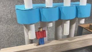 Roblox. Escape from school. Cardboard game. DIY
