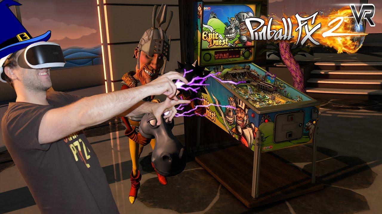 VIRTUAL REALITY PINBALL WIZARD! Pinball FX 2 VR PSVR Gameplay