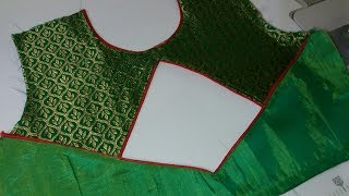Very Beautiful And  Easy Blouse Back Neck Design Cutting And Stitching