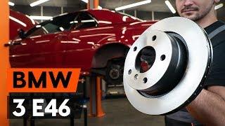 Montavimo priekyje ir gale Stabdžių diskas BMW 3 SERIES: vaizdo pamokomis