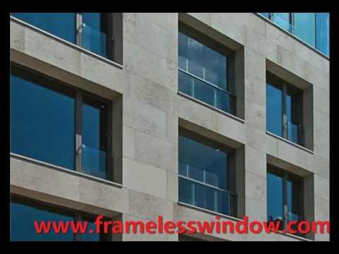 Beautiful color hot sale shanghai frameless sliding glass window
