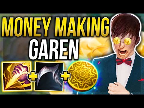 MONEY MAKING GAREN! THE MOST BROKEN GOLD FARMING STRATEGY! - League of Legends thumbnail
