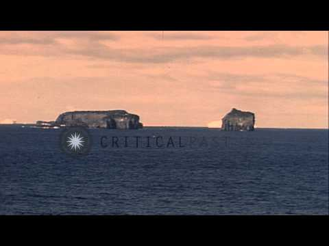 Scott Island in the Antarctic Ocean during Operation High Jump. HD Stock Footage