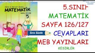 5.SINIF MATEMATİK SAYFA 126/127 SIRA SİZDE ETKİNLİĞİ KESİRLERLE TOPLAMA ÇIKARMA