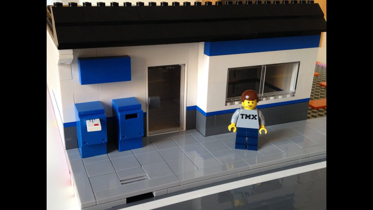 Lego moc post office for my lego city youtube - Post office working today ...