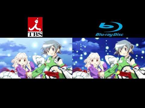 Hidamari Sketch x Honeycomb Ending Broadcast/Blu-Ray Comparsion