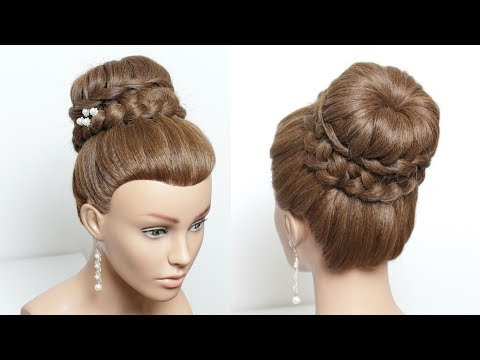 High Braided Updo. Hairstyle For Long Hair Tutorial