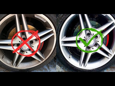 How to Clean  Wheels Easy 4k - Rims AMG WASH  - EXTREMELY Dirty Wheels 4k Oddly Satisfying