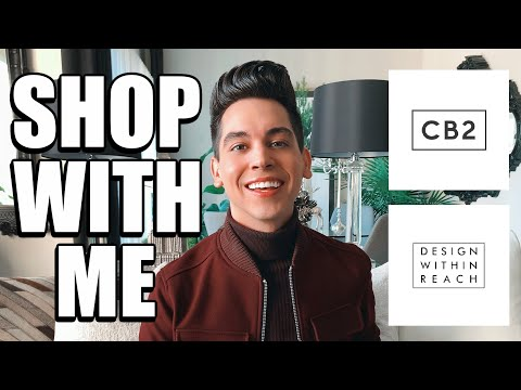 CB2 + DESIGN WITHIN REACH SHOP WITH ME | HOME DECOR INSPIRATION + AFFORDABLE DUPES | WALKTHROUGH